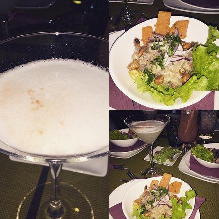 Alcobendas, Espanha: Ahora también somos fans del Pisco&Sour con Ceviche, eso sí el Ceviche está en la carta por enca