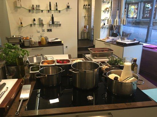 Backnang, Γερμανία: Kochkurs im Tafelhaus, direkt neben dem Restaurant in der Kochschule SinnReich.Tv