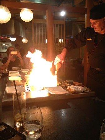 Kabuki Japanese Restaurant: Flames aplenty on the tepanyaki grill!