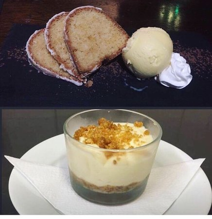 Washington, UK: Fresh homemade delicious desserts: white chocalate baileys cheesecake and lemon cake