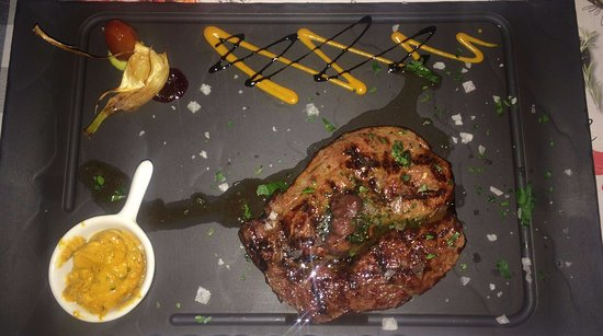 Kempten, เยอรมนี: rib eye steak