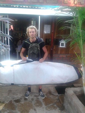 Rivas, Nicaragua: Go9ing surfing  with Memo