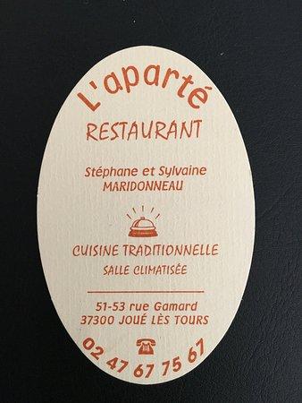 Joué lès Tours, France : Carte de visite