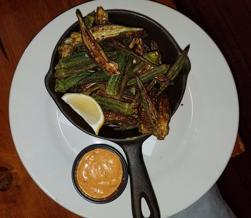 Valle Crucis, Северная Каролина: Roasted Okra Appetizer…amazing!