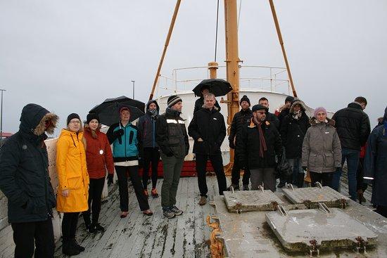 Хофн, Исландия: On board Akurey, an old fishing boat.