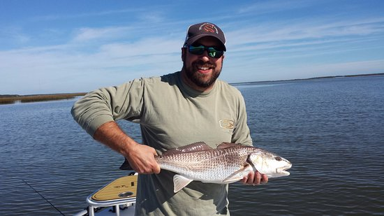 Isle of Palms, Carolina del Sud: Shallow bay caught Red