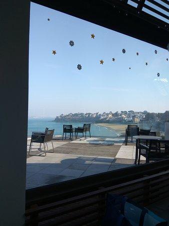 L'albatros: Superbe terrasse + café gourmand