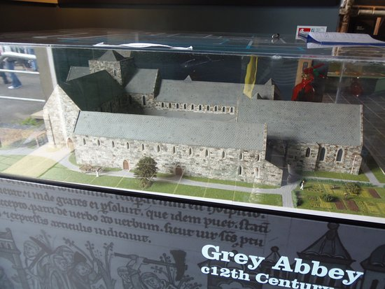 Greyabbey, UK: Model of Grey Abbey inside the Visitor Centre, Ulster, County Down, Northern Ireland