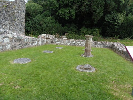 Greyabbey, UK: Ruin of the Chapter House of Grey Abbey, Ulster, County Down, Northern Ireland