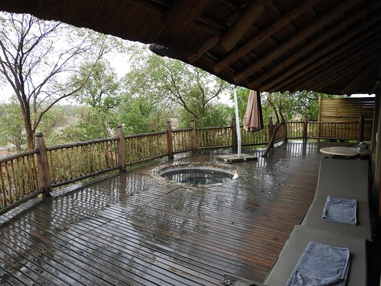 Etali Safari Lodge: Private pool and viewing deck