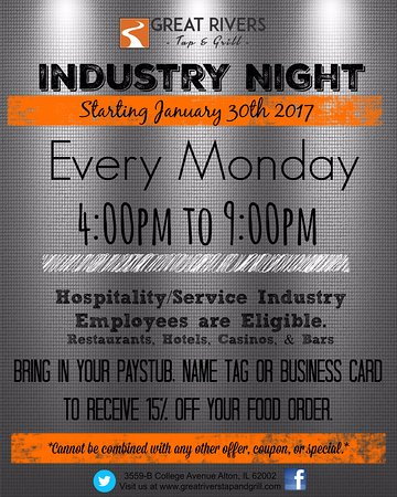 Alton, IL: EVERY MONDAY NIGHT!