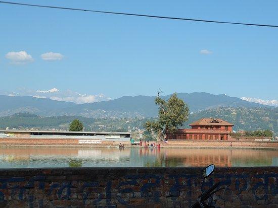 Bhaktapur, Nepal: Entrance of Bhhaktapur. the big pond