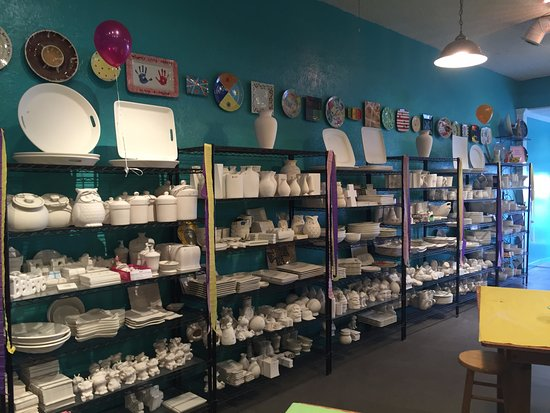 Noblesville, IN: We have lots of pottery to paint!