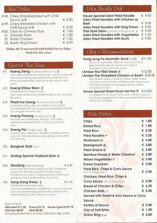 Listowel, Irland: Takeaway menu