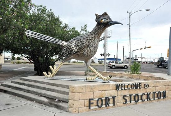 Paisano Pete welcomes you to Fort Stockton