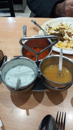 Complimentary Sauces Served On Each Table Picture Of