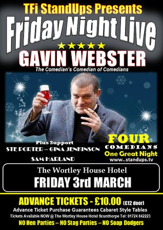 Scunthorpe, UK: Friday 3 March - The Comedian's Comedian of Comedians