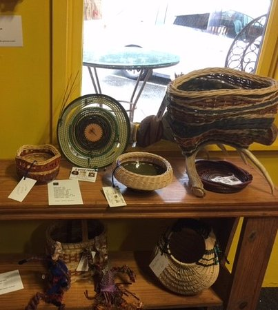 Goliad, TX: A Good Reed handwoven baskets by Jolaine of Arroyo City, Texas