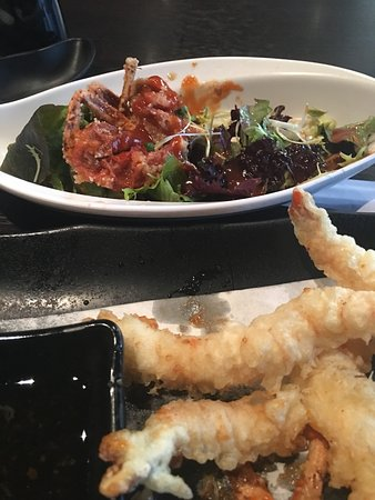 Sushimania: Soft shell crab and prawns tempura