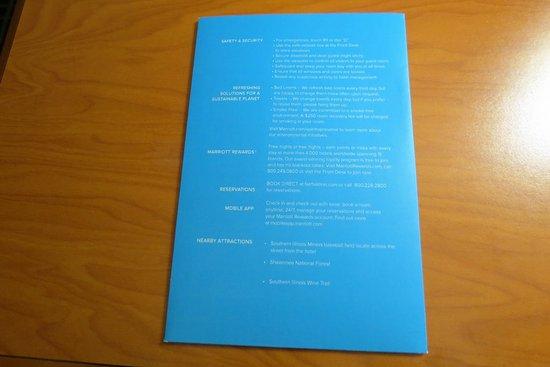 Fairfield Inn & Suites Marion: guest brochure back