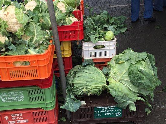Nicosia Open Market: a massive cabbage