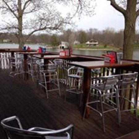 Willard, OH: View from the outdoor deck. There is a lower deck with a second bar and picnic tables as well.