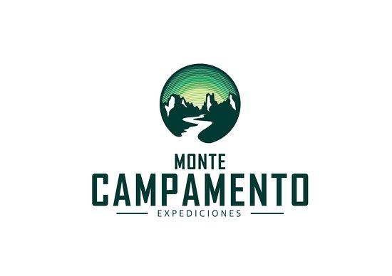 Puerto Bertrand, Chile: Nuestra imagen de marca, en la cual están representados el Cerro Campamento y el caudaloso río B