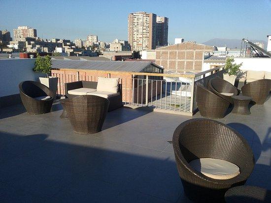 Hotel Loreto: Terraço no alto do hotel
