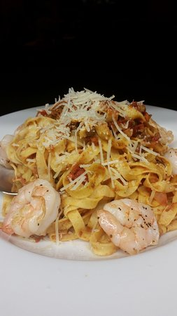 Boonville, NC: Fettucini with Shrimp