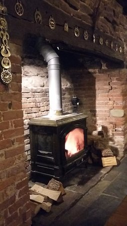 Cradley, UK: Roaring fire.
