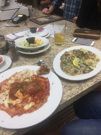 Dandridge, TN: Chicken piccata and spaghetti and meatballs