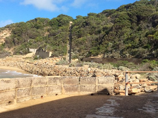 Portsea, Australia: The view from the entrance of the engine house