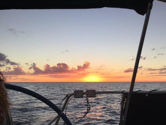 Deshaies, Guadeloupe: L'instant avant la disparition du soleil