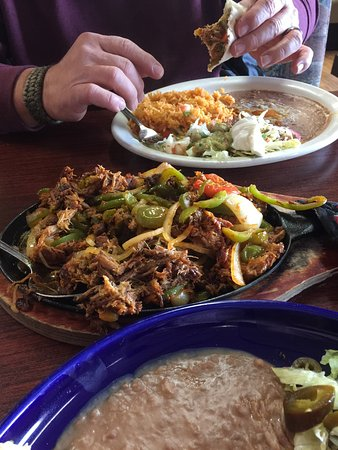 Shelton, WA: Pork Fajitas.  Very good.