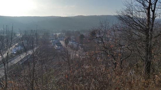 Port Jervis, NY: Looking out over wast end