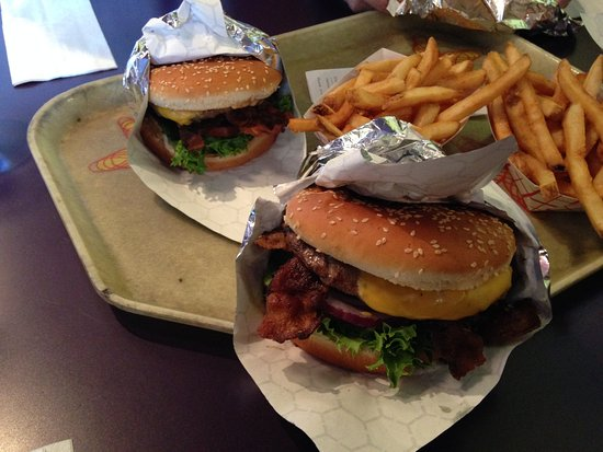 Red Mill Burgers--Interbay: Bacon Deluxe w/cheese and fries