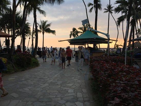 Hilton Hawaiian Village Waikiki Beach Resort: ホテルのビーチです。