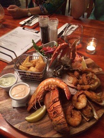 Gladstone, Avustralya: The seafood platter