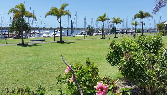Burnett Heads, Australia: Marina at the back of the complex