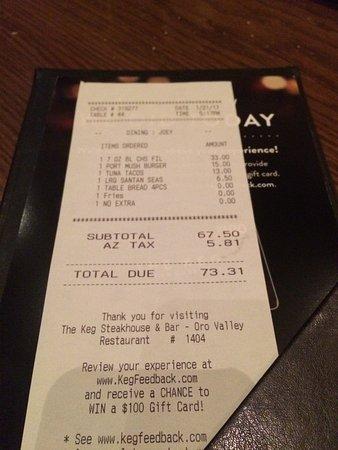 Oro Valley, AZ: The Keg Steakhouse and Bar