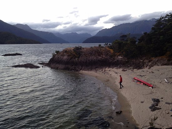 Fetching some clean water from lake Manapouri