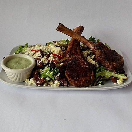 Livingston, MT: Greek Lamb Salad with locally sourced lamb and house made Tzatziki dressing.