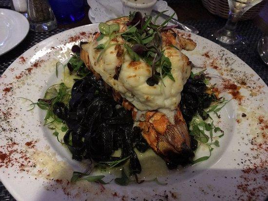 South Miami, FL: black linguini with lobster - YUM!
