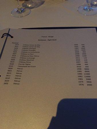 Wine List Picture Of Eiffel Tower Restaurant At Paris