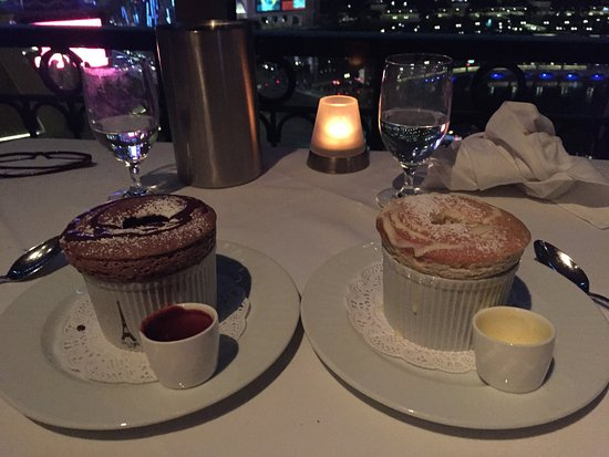 Eiffel Tower Restaurant at Paris Las Vegas: Chocolate & Banana Souffle