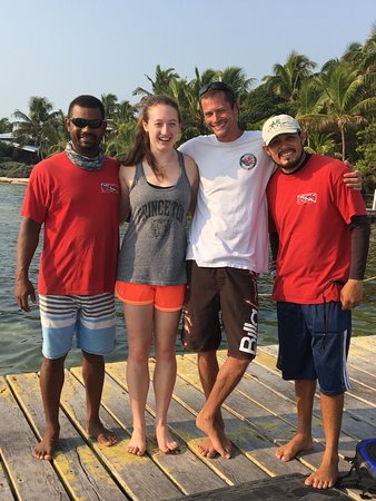 Long Caye, Belize: The amazing staff and I!