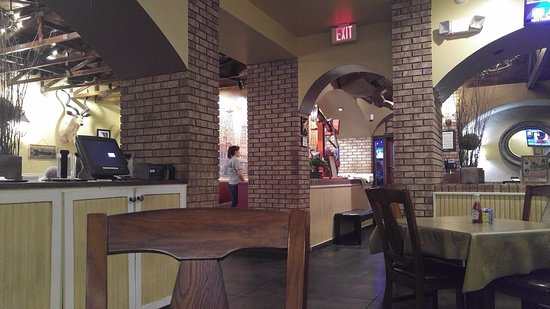 Denison, TX: view from my seat, entrance on the right