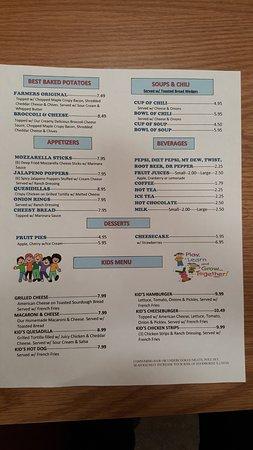 Wasilla, AK: Baked Potatoes, Appetizers, Soups/Chili, Sodas, Desserts & Kids Menu