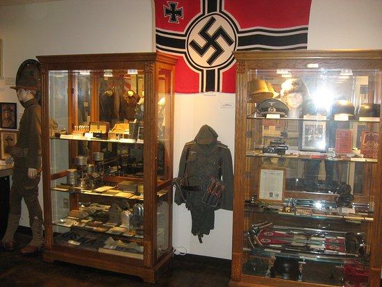 Broken Arrow, OK: German artifacts in the WWII room.