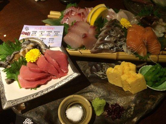 Umi Doraku, Shiki Ekimae: メインが選べる鮮魚八点盛り
